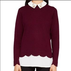 Ted Baker embellished collar Suzaine sweater